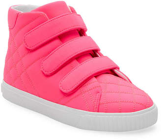 Burberry Velcro Strap High-Top Sneaker