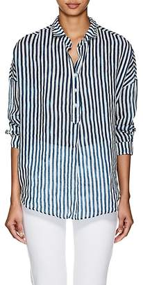 A Shirt Thing Women's Oversized Striped Gauze Blouse