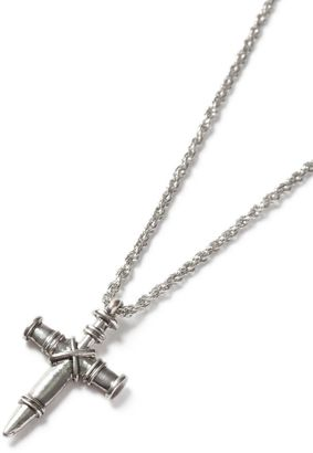 Silver Look Detailed Cross Necklace*