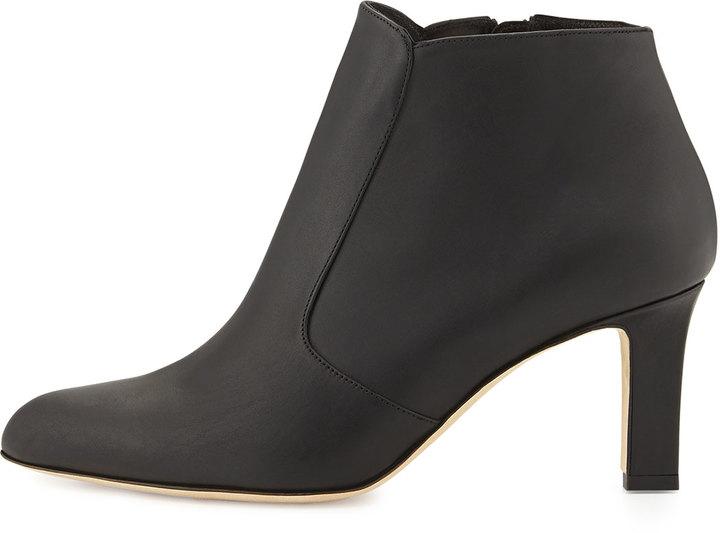 Manolo Blahnik Zavattinapla Leather Ankle Boot