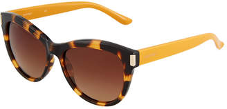 Ellen Tracy Plastic Square Leopard Sunglasses