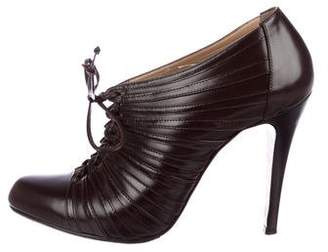 Christian Louboutin Ruched Leather Booties