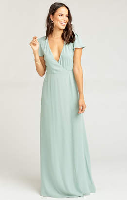 Show Me Your Mumu Noelle Wrap Dress ~ Silver Sage Crisp