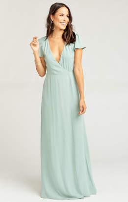 ab7924ce68fe5b Show Me Your Mumu Noelle Wrap Dress ~ Silver Sage Crisp
