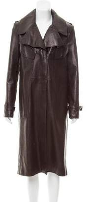 Tom Ford Leather Long Coat