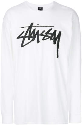 Stussy logo long-sleeve sweatshirt