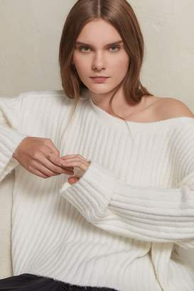 French Connenction Riva Rib Knit Cropped Jumper
