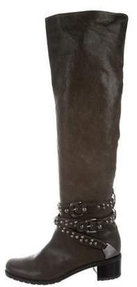Stuart Weitzman Round-Toe Knee-High Boots