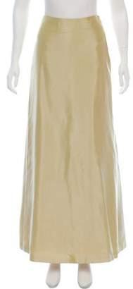 Carmen Marc Valvo Satin Maxi Skirt