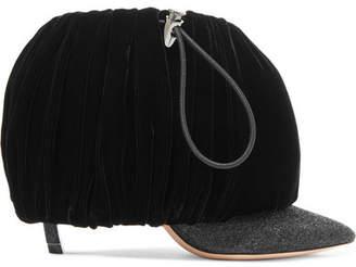 Nicholas Kirkwood Courtney Glittered-leather And Velvet Ankle Boots - Black