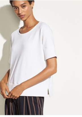 Vince Short Sleeve Crop Sweatshirt
