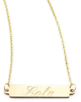 Chicco Zoe Personalized Gold Bar-Pendant Necklace, 18""