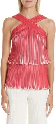 Yigal Azrouel Tiered Origami Pleat Top