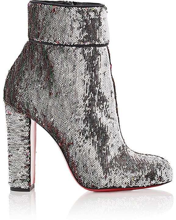 Christian Louboutin Women's Moulamax Paillette Ankle Boots