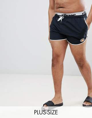 Ellesse Swim Shorts With Elastic Waistband In Black