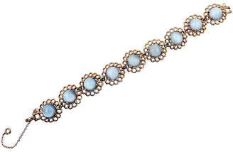 One Kings Lane Vintage Reja Faux-Moonstone Bracelet - Carrie's Couture