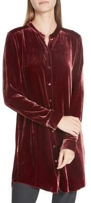 Eileen Fisher Long Velvet Shirt