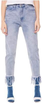 Juicy Couture Jxjc Crystal Fringe Hem Girlfriend Jean