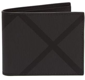 Burberry London Check Canvas Bi Fold Wallet - Mens - Grey