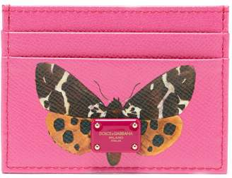 Dolce & Gabbana Butterfly-print leather card holder
