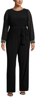 BLU SAGE Blu Sage Long Sleeve Jumpsuit - Plus