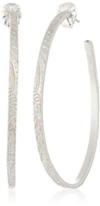 Me & Ro Me&Ro Sterling Medium Paisley Hoop Earrings