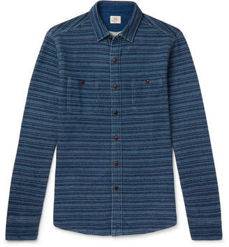 Faherty Striped Loopback Cotton-Jersey Shirt - Men - Blue