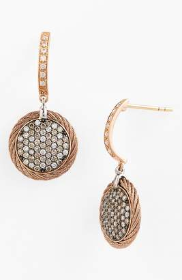 Alor R) Pave Diamond & Cable Drop Earrings