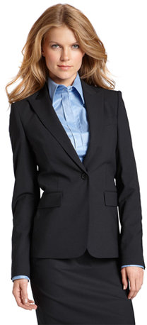 Single Breasted 1-Button Business Blazer by BOSS Black