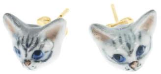 Nach Mini Cat Porcelain Earrings