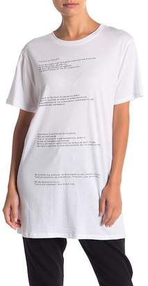 THE PHLUID PROJECT Mannifesto Extended Short Sleeve Tee