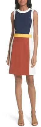 Tory Burch Mya Colorblock Stretch A-Line Dress