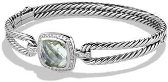 David Yurman Albion Bracelet with Prasiolite and Diamonds