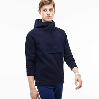 Lacoste Men's Hooded Zip Neck Wide Pockets Sweatshirt