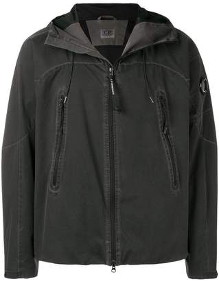 C.P. Company zip detail hooded jacket