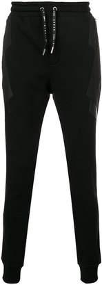 Les Hommes Urban back stripe side zip track pants