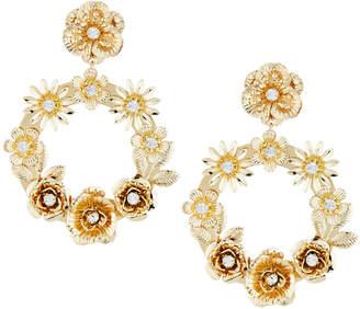 Fragments for Neiman Marcus Floral Hoop Drop Earrings