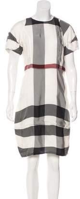 Burberry Check Knee-Length Dress