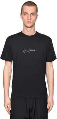 Yohji Yamamoto New Era Embroidered Jersey T-Shirt