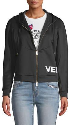 Versace Zip Logo Hoodie