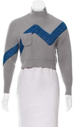 Vika Gazinskaya Metallic-Accented Wool Sweater