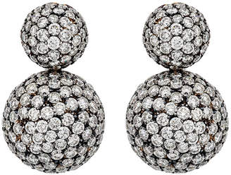 Piero Milano 18k White Gold Diamond Snowman Earrings