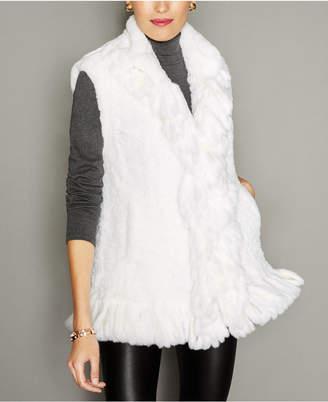 The Fur Vault Knitted Rex Rabbit Fur Vest