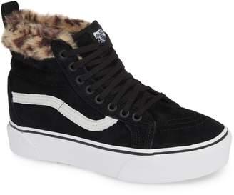 0de36eb79da Vans Sk8-Hi Faux Fur Lined Platform Sneaker