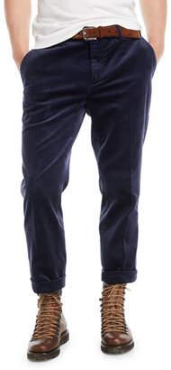 Brunello Cucinelli Men's Corduroy Flat-Front Pants
