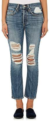 Womens Charlie Distressed Crop Jeans Brock Collection xONKTR9
