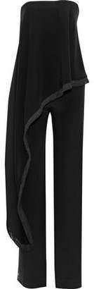 ADAM by Adam Lippes Strapless Layered Silk-Cady Jumpsuit