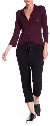 James Perse Slouchy Cropped Sweatpants