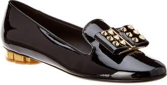 Salvatore Ferragamo Flower Studs Patent Loafer