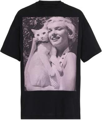 Christopher Kane Marilyn Printed Cotton-Jersey T-Shirt Size: XS